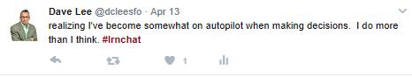 decision making tweet