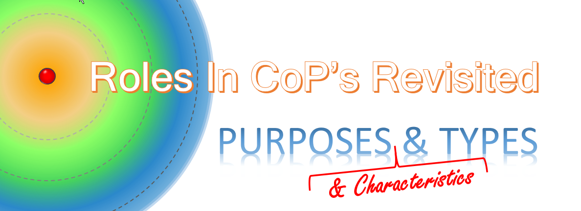 Roles in CoP's Revisited: Purposes, Characteristics, andTypes